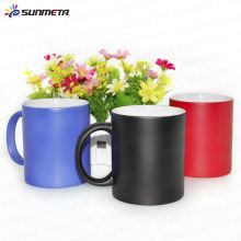 Hot Sale Color Change Magic Mug Black Red Blue China Factory